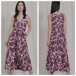 Boden 14 Riviera Floral Linen Wrap Dress